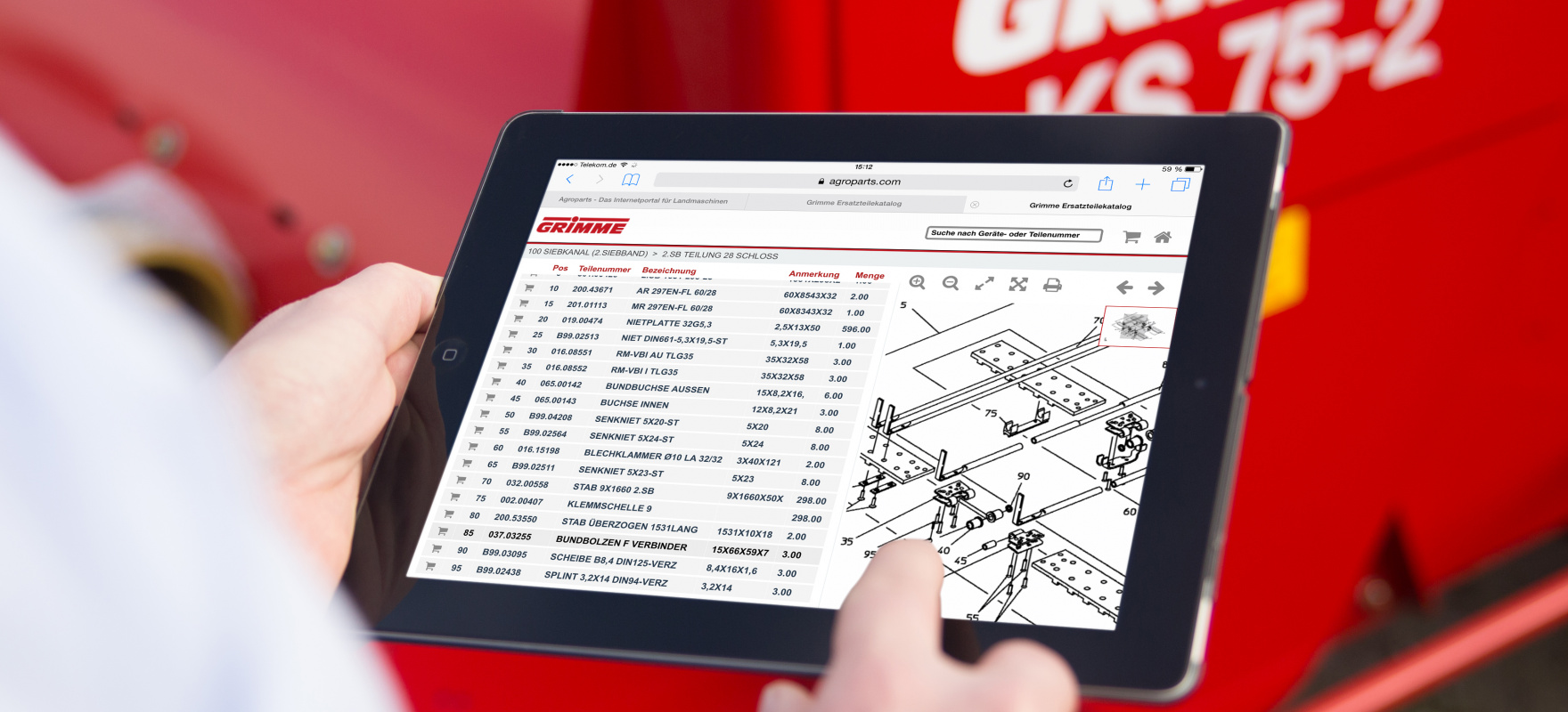 Grimme Original Parts: Easy online search for Grimme original parts ...